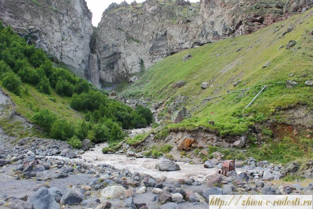 водопад Султан, урочище, Кызылкол