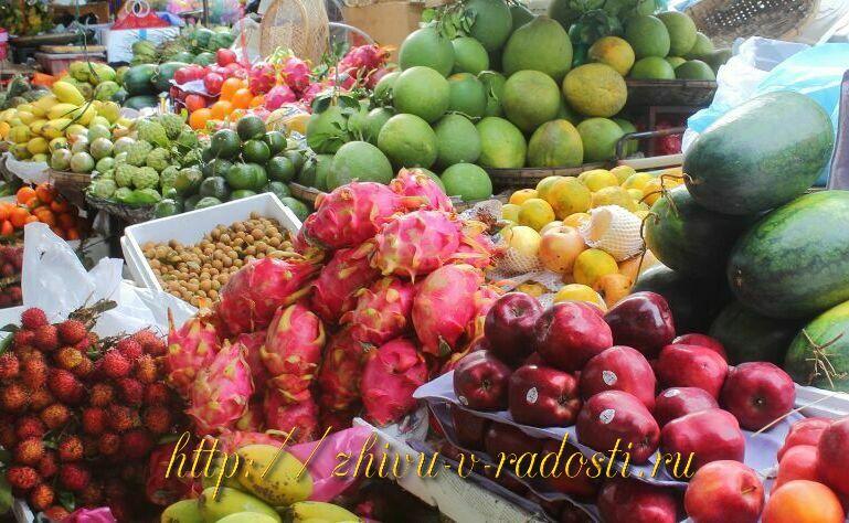 рынок Азия Вьетнам фрукты